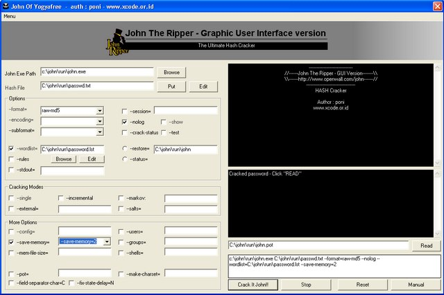 john the ripper gui mac